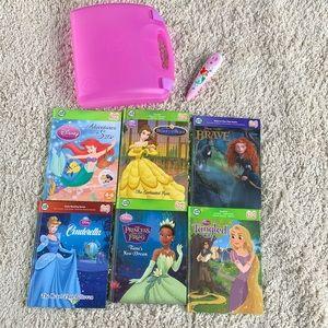 LeapFrog TAG Reader Pen Case Disney Princess Books